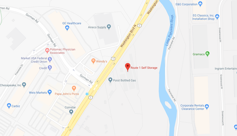 Map image of Route 1 self storage in Laurel, MD