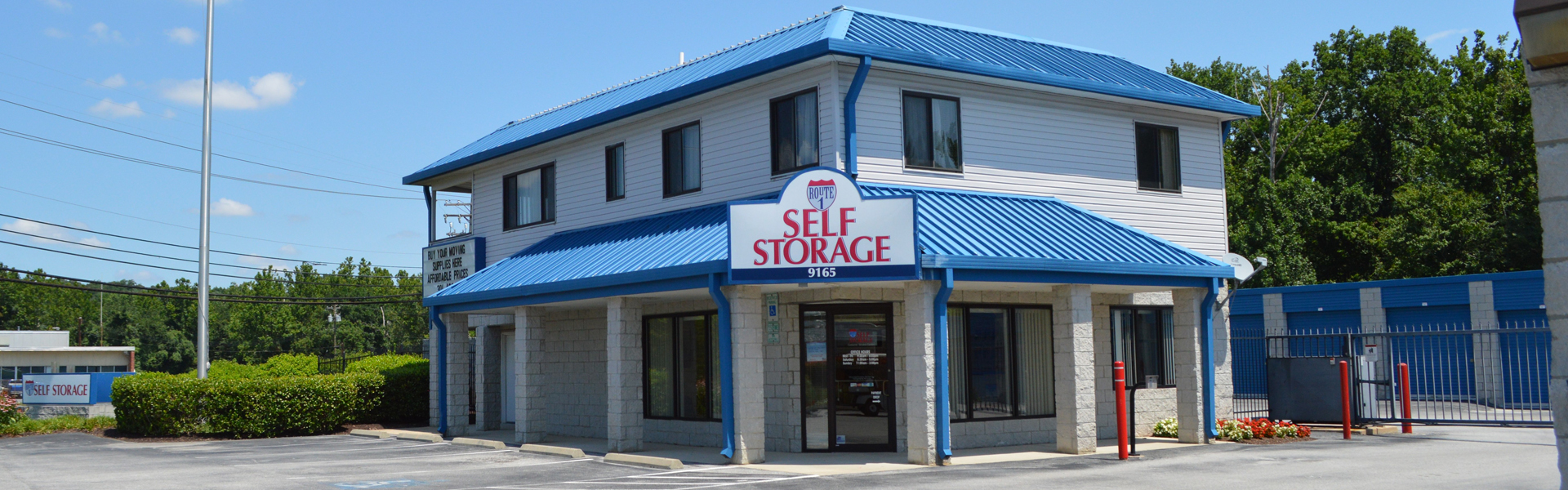 Route 1 storage facility - front office