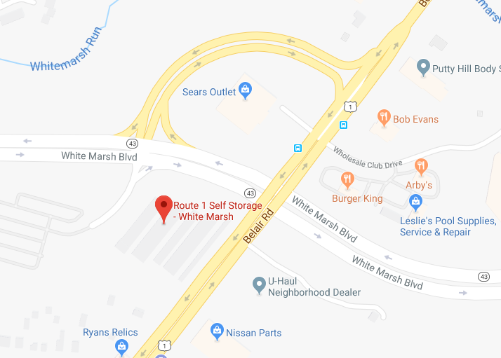 Map image of Route 1 self storage White Marsh